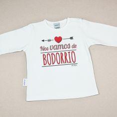 Camiseta Divertida Bebé Nos vamos de Bodorrio