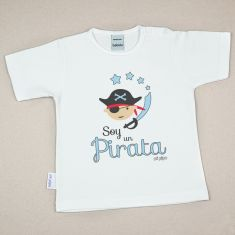 Camiseta Divertida Bebé Soy un Pirata