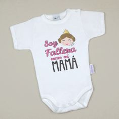 Babidu Body Basic Funny I Love Mommy with Pink Star