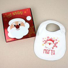 Babero Navideño Personalizado Papá Noel