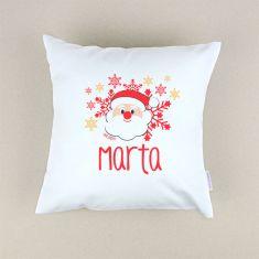 Cojín Navideño personalizado Papá Noel
