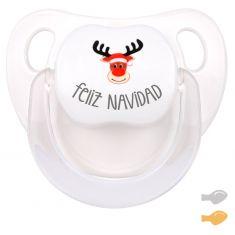 Chupete Baby Deco Feliz Navidad con Reno Rudolf