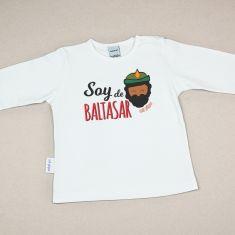 Camiseta Divertida Bebé Navidad Soy de Baltasar