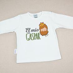 Camiseta Divertida Bebé Navidad El mío es Gaspar
