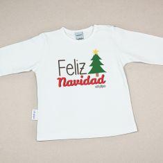 Camiseta Divertida Bebé Navidad Feliz Navidad Árbol