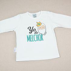 Camiseta Divertida Bebé Navidad Yo de Melchor