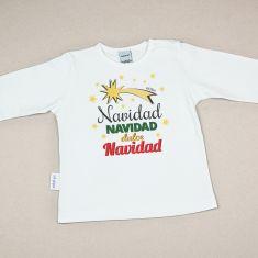 Camiseta Divertida Bebé Navidad dulce Navidad