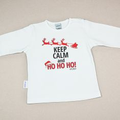 Camiseta Divertida Bebé Navidad Keep calm and Ho Ho Ho