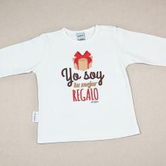 Camiseta Divertida Bebé Navidad Yo soy tu mejor regalo