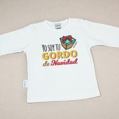 Camiseta Divertida Bebé Navidad Yo soy tu gordo de Navidad