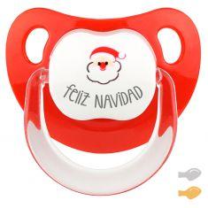 Chupete Baby Deco Feliz Navidad con Papá Noel