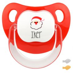 Red Santa Baby deco Personalized Pacifier