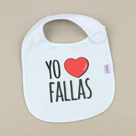 Babero Divertido Yo corazón Fallas +3m