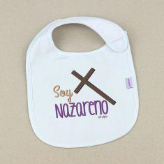 Babero Divertido Soy Nazareno Cruz +3m