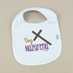 Babero Divertido Soy Nazarena Cruz +3m