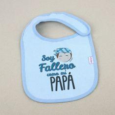 Babero Divertido Soy Fallero como mi Papá +3m