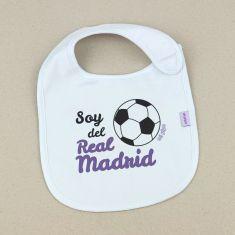 Babero Divertido Soy del Real Madrid +3m