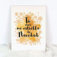 Lienzo Navidad Tú eres mi estrella de Navidad