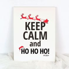 Lienzo Navidad Keep calm and Ho Ho Ho!