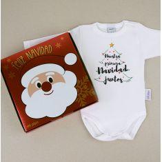 Babidu Body Navideño Nuestra primera Navidad juntos con cajita de regalo