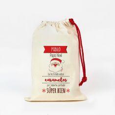 Saco pequeño Navideño para Chuches Papá Noel te ha traído estos caramelos personalizado