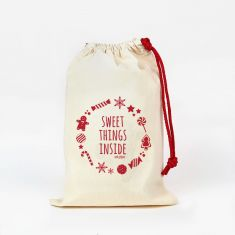 Saco pequeño Navideño para Chuches Sweet things Inside