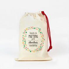 Saco pequeño Navideño para Chuches caramelos colores personalizado