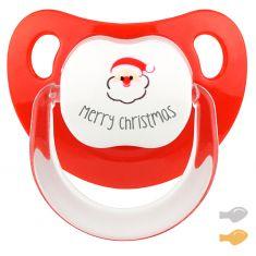 Chupete Baby Deco Merry Christmas con Papá Noel
