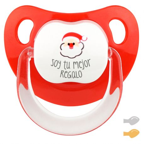 Merry Christmas Red Santa Personalized Pacifier