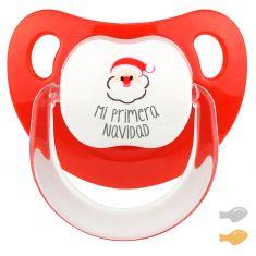 Chupete Baby Deco Mi primera Navidad con Papá Noel