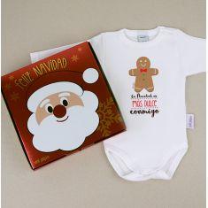 Babidu Body Navideño La Navidad es más dulce conmigo con cajita de regalo