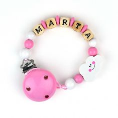 Wood chain Pink Cloud Personalized