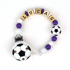 Wood chain Football Real Madrid Personalized