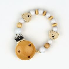 Wood chain Natural Teddy Bears not Personalized