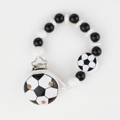 Wood chain Football ball White/Black not Personalized