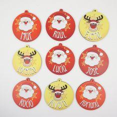 Bolas Navidad personalizadas 50% DTO (precio por ud)