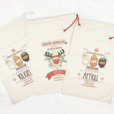 Sacos de regalos de Navidad personalizados 50% DTO (precio por ud)