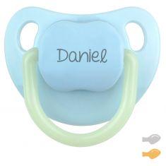 Chupete Baby Night Personalizado Azul (brilla en la oscuridad)