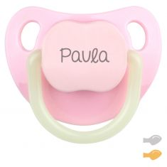 Night-Pink Baby Personalized Pacifier