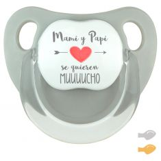 Baby Pacifier Super Dad is Cool Blue Pastel