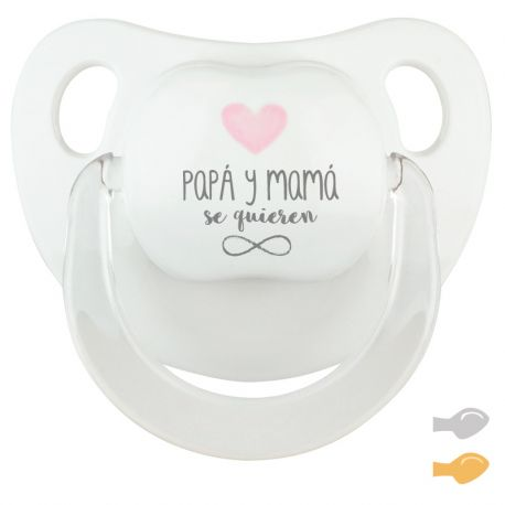 Baby Pacifier My Dad is Great Pink Pastel