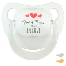 Baby Pacifier My Dad is Great Blue Pastel