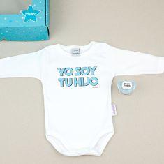 Cajita Divertida Body + Chupete Yo soy tu Hijo Azul