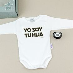 Cajita Divertida Body + Chupete Yo soy tu Hija