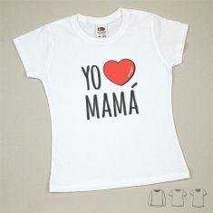 Camiseta o Sudadera Bebé y Niño/a Yo corazón Mamá