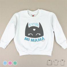 Camiseta o Sudadera Mi Heroína, Mi Mamá Menta, Azul o Rosa