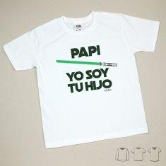 Camiseta o Sudadera Bebé y Niño/a Papi Yo soy tu Hijo Verde