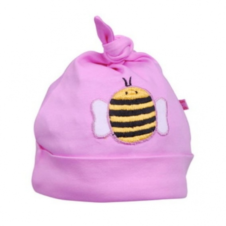 Gorro Beauty & The Bib Rosa con Abejita +6M