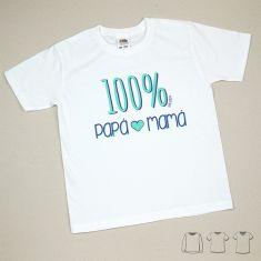 Camiseta o Sudadera Bebé y Niño/a 100% Papá-Mamá