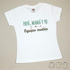 Camiseta o Sudadera Bebé y Niño/a Papá, Mamá y yo, Equipo Molón